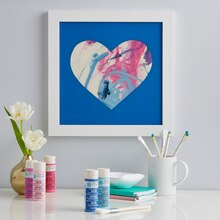 Painted Heart Shadow Box, medium