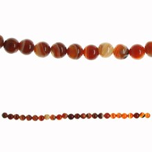 Bead Gallery Banded Agate Beads, Amber