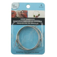 Rhodium Hoop Earrings by Bead Landing