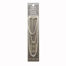 """Bead Gallery Silver Plated Rolo Chain, 30"""""""