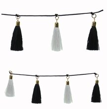 Bead Gallery Tassel Beads, Black & White