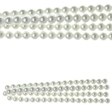 Bead Gallery White Pearl Glass Beads, 10 mm