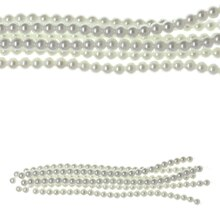 Bead Gallery White Pearl Glass Beads, 8 mm