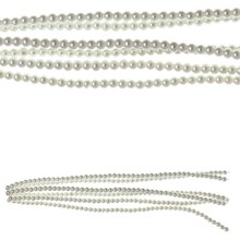 Bead Gallery White Pearl Glass Beads, 4 mm