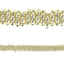 Bead Gallery Bump Rondelle Metal Beads, Gold