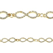 Bead Gallery Infinity Rhinestone & Metal Beads, Gold