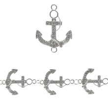 Bead Gallery Anchor Rhinestone & Metal Beads, Silver