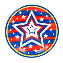 "7"" United Star Patriotic Party Plates, 20ct"