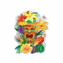 Paper Cut Out Tiki Tropics Luau Decoration