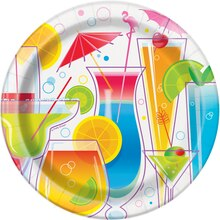 "9"" Summer Cocktail Party Plates, 8ct"