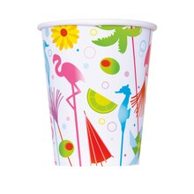 9oz Summer Cocktail Paper Cups, 8ct