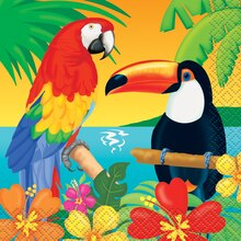 Tropical Island Luau Beverage Napkins, 16ct