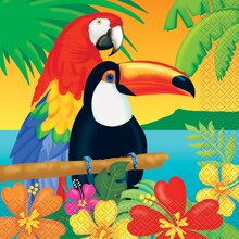 Tropical Island Luau Luncheon Napkins, 16ct
