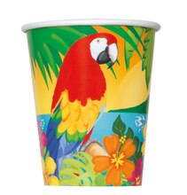 9oz Tropical Island Luau Paper Cups, 8ct