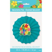 "Tropical Island Luau Tissue Paper Fan Decoration, 12"", Packaging"