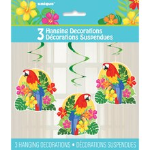 Hanging Tropical Island Luau Decorations, 3ct, Packaging