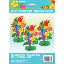 "Mini 8"" Tropical Island Luau Centerpiece Decorations, 3ct, Packaging"