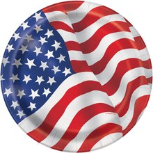 "9"" US American Flag Party Plates, 8ct"