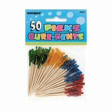 Frilly Cocktail Toothpicks, Assorted 50ct