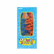 Small Plastic Squiggle Silly Straws, Assorted 12ct