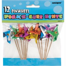 Pinwheel Toothpicks, Assorted 12ct