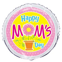 Foil Flower Happy Mother's Day Balloon, 18""