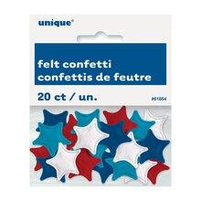 Felt Patriotic Star Confetti, 20ct, Packaging