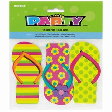 Flip Flop Note Pad Party Favors, 12ct