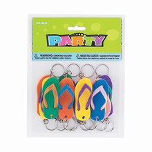 Flip Flop Keychain Party Favors, 12ct