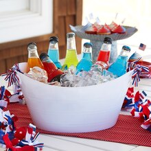 Patriotic Beverage Bucket, medium