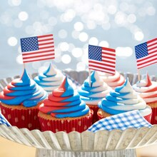 Red White and Blue Cupcakes, medium