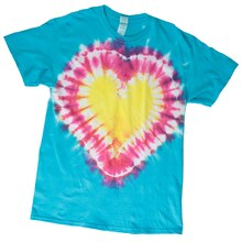 Heart Tie Dye T-shirt, medium