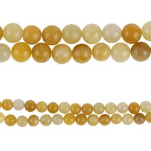 Bead Gallery Round Citrine Beads, Amber