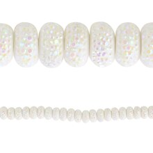 Bead Gallery Acrylic Textured Beads, White