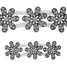 Bead Gallery Metal Flower Sliders, Clear & Silver