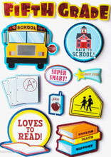 Fifth Grade Dimensional Stickers by Recollections