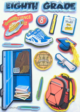 Eighth Grade Dimensional Stickers by Recollections