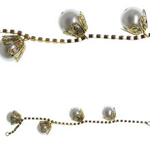 Bead Gallery Faux Pearl Drop Bead Chain, White