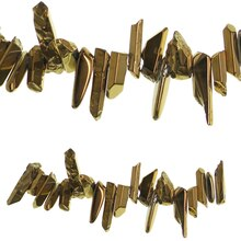 Bead Gallery Luster Nugget Stone Beads, Gold