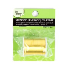 28 Gauge Gold Beading Wire by Bead Landing