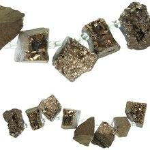 Sedona Gold Chunky Druzy Agate Beads by Bead Landing