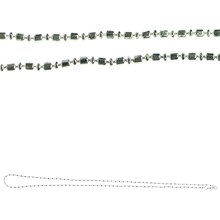 Bead Gallery Silver Plated Ball & Tube Necklace Chain