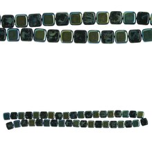 Bead Gallery Czech Glass Square Beads, Black