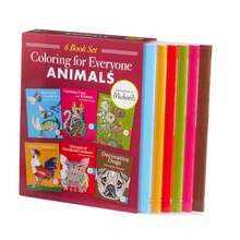 Coloring for Everyone Animals 6 Book Set