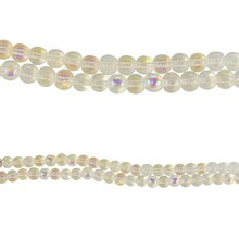 Bead Gallery Round Glass Beads, Crystal AB
