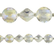 Bead Gallery Large Faceted Glass Beads Mix, Crystal