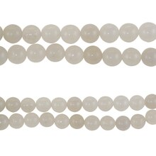 Bead Gallery Round Quartzite Stone Beads, White