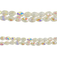 Bead Gallery Oval Glass Beads, Crystal AB