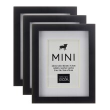 Black Mini Frame With Mat 3 Pack by Studio Décor