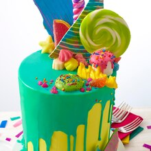 Bold & Bright Candy Explosion Cake, medium